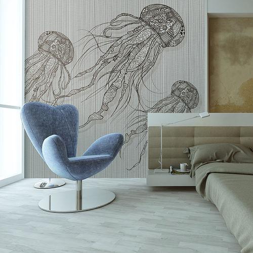 papel pintado moderno / de tela / de vinilo / con motivos animales