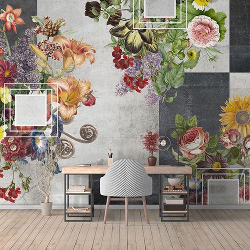 Papeles pintados modernos / de tela / de vinilo / con motivos florales BAD ROMANCE Skinwall