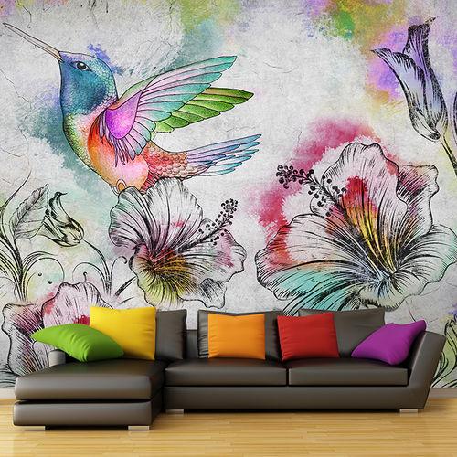 Papeles pintados modernos / de tela / de vinilo / con motivos florales BEIJAFLOR Skinwall