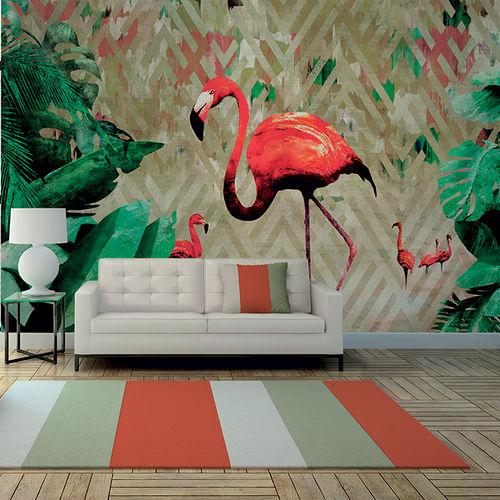 Papeles pintados modernos / de tela / de vinilo / con motivos animales FLAMINGO BAY Skinwall