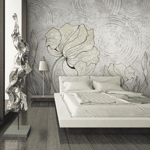 Papeles pintados modernos / de tela / de vinilo / con motivos florales IN BLOOM Skinwall