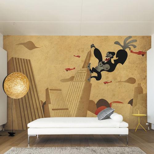 Papeles pintados modernos / de tela / de vinilo / con motivos animales KING KONG Skinwall