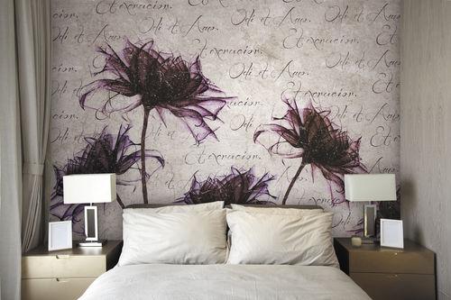 papel pintado moderno / de tela / de vinilo / con motivos florales