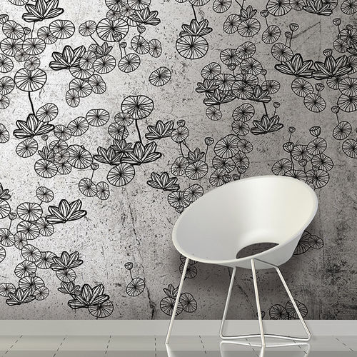 Papeles pintados modernos / de tela / de vinilo / con motivos florales LOTUS Skinwall
