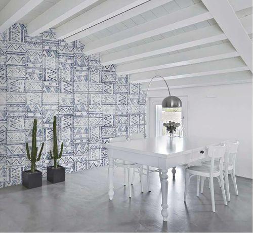 Papeles pintados modernos / de tela / de vinilo / con motivos geométricos MEXICAN TILES Skinwall