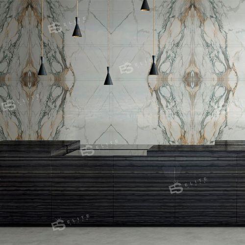 baldosa de interior / de pared / de mármol / con motivos