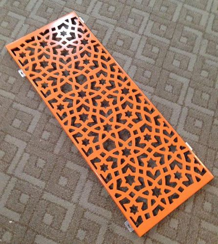 panel decorativo de aluminio / de madera maciza / de pared / perforado