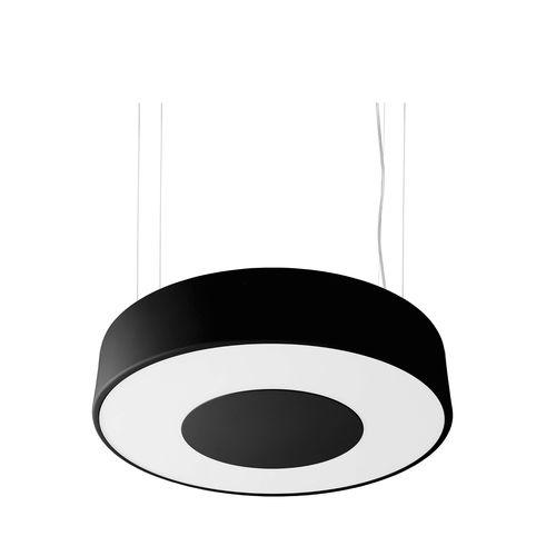 luminaria suspendida / fluorescente compacta / redonda / de acero