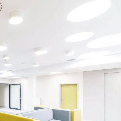luminaria empotrable de techo / LED / fluorescente compacta / redonda