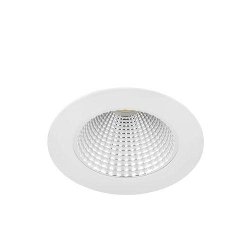 downlight empotrable de techo / LED / redondo / de acero
