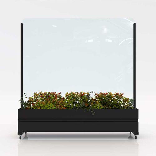mampara paravientos de vidrio / de aluminio / para el sector servicios