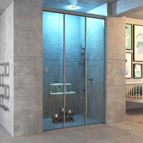 cabina de ducha de aluminio / de vidrio / de vidrio templado / rectangular