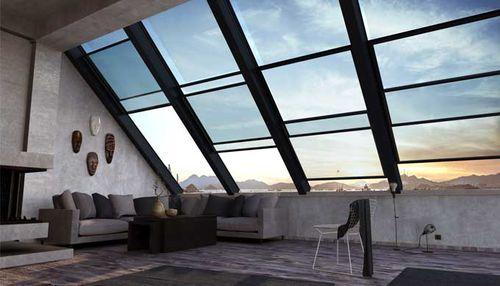 ventana de tejado corredera / de aluminio / con vidrio doble / eléctrica