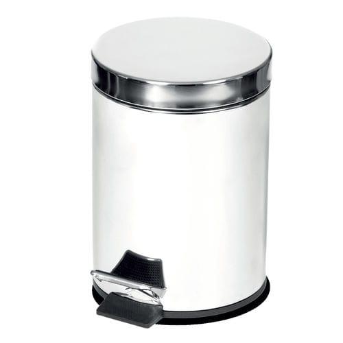cubo de basura de baño / de acero / con pedal / para habitación de hotel