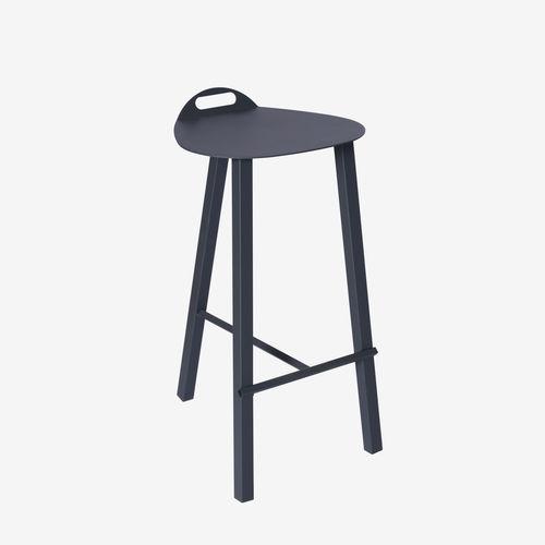 taburete de bar moderno / de acero con revestimiento en polvo / para hotel / para espacio público