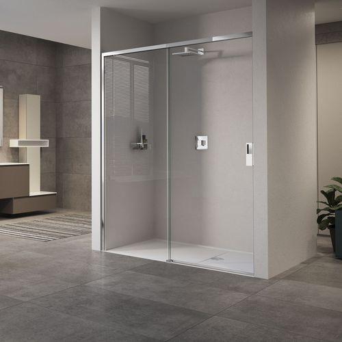 mampara de ducha corredera / para ducha empotrada / de vidrio