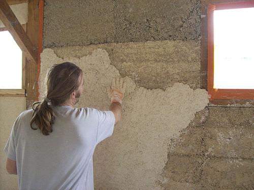 enlucido aislante / de interior / para paredes / a base de cáñamo
