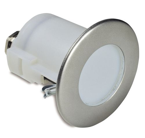 luminaria empotrable / LED / redonda / de acero inoxidable