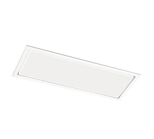 iluminación de emergencia empotrable / rectangular / fluorescente / de policarbonato