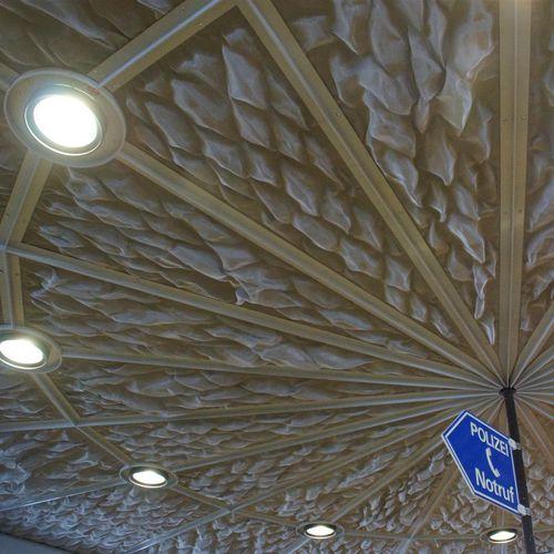 falso techo de acero inoxidable / de malla metálica / tipo panel / enrejado