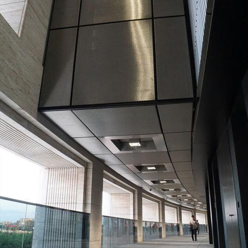 techo de malla metálica / acero inoxidable