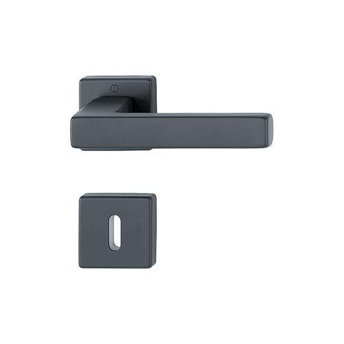 manilla para puerta / de aluminio / moderna / con cerradura integrada