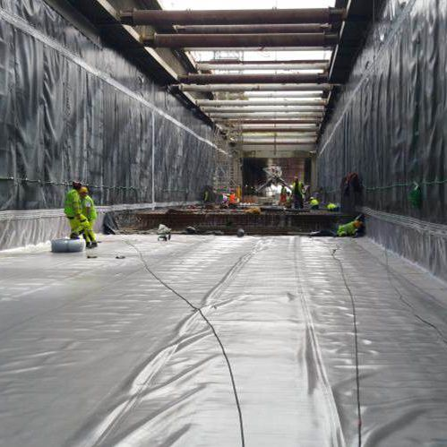 Geomembrana para túnel / impermeabilizante FLAGON® BT SOPREMA