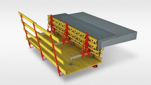 encofrado modular / de metal / para hueco de escalera