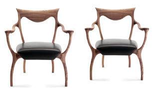Sillón de diseño orgánico / de nogal americano HYPNOS by Roberto Lazzeroni CECCOTTI COLLEZIONI