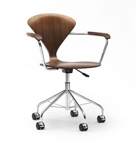silla de oficina moderna / giratoria / ajustable en altura / con ruedas