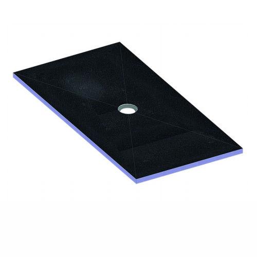 plato de ducha rectangular / de poliestireno extruido / a ras de suelo