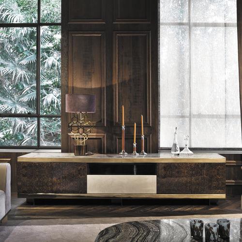 aparador moderno / de madera / de vidrio / de mármol