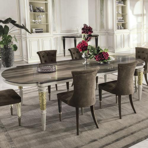 mesa de comedor clásica / de ébano / de metal / de mármol