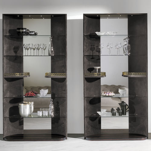 vitrina moderna / de vidrio / de madera / de cuero