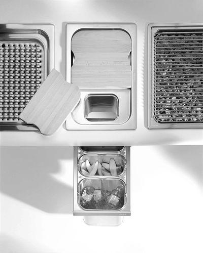 cubo de basura para cocina / empotrable / de acero inoxidable / de reciclaje