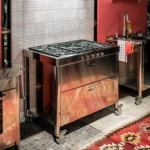 centro de cocción de gas / de hierro fundido / de acero inoxidable / con parrilla