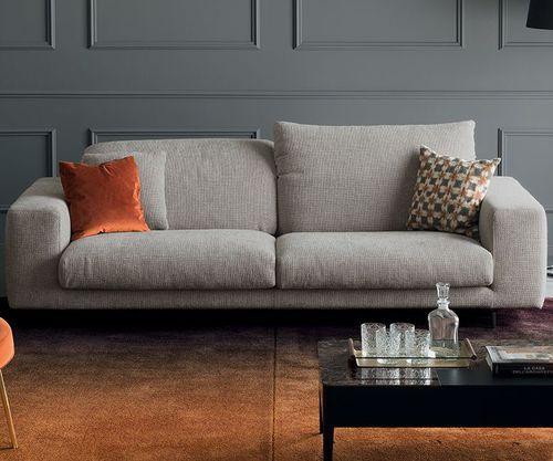 sofá moderno / de tejido / 2 plazas / con reposacabezas