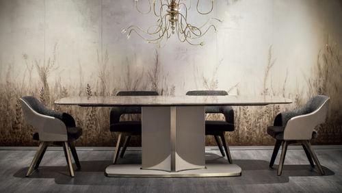 mesa moderna / de mármol / rectangular