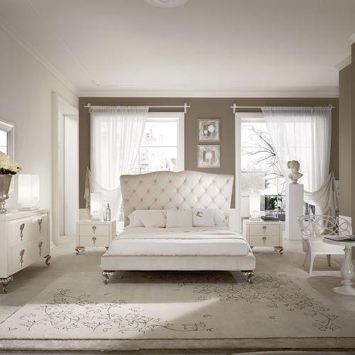 cama estándar / de matrimonio / de diseño nuevo barroco / tapizada