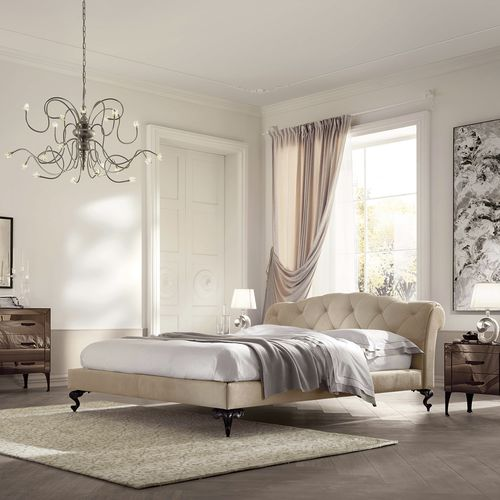 cama estándar / de matrimonio / clásica / tapizada