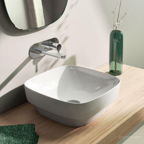 Lavabo sobre encimera / cuadrado / de cerámica / moderno GREEN LUX 40 CATALANO