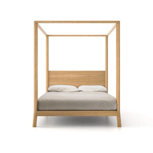 cama con dosel / de matrimonio / moderna / con cabecero