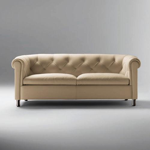 sofá clásico / de cuero / 2 plazas / 3 plazas