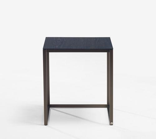 mesita auxiliar moderna / de vidrio / de roble / de madera maciza