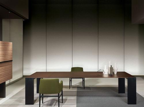 mesa moderna / de aluminio / rectangular / cuadrada