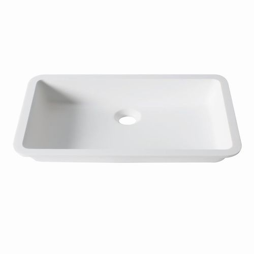 Lavabo bajo encimera / rectangular / de Krion® / moderno D801 48x28 1100 E SYSTEMPOOL -  KRION® Porcelanosa Solid Surface