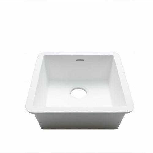 Fregadero de 1 cubeta / de Krion® / cuadrado / profesional C604 40X40 E SYSTEMPOOL -  KRION® Porcelanosa Solid Surface