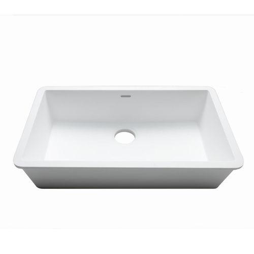 Fregadero de 1 cubeta / de Krion® / profesional C824 70X40 E SYSTEMPOOL -  KRION® Porcelanosa Solid Surface