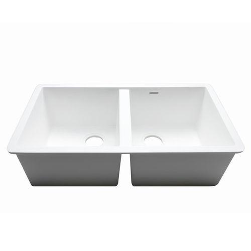 Fregadero de 2 cubetas / de Krion® / profesional C826 77X40 2S E SYSTEMPOOL -  KRION® Porcelanosa Solid Surface