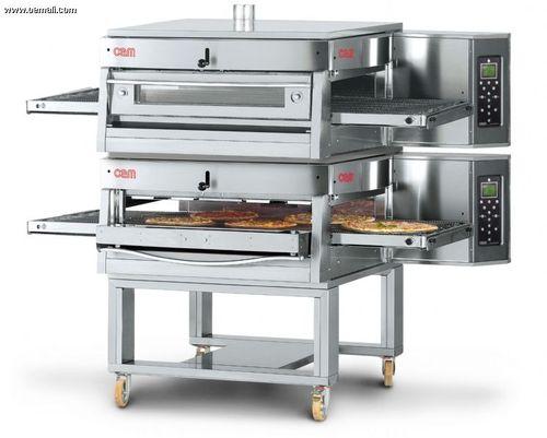 Horno de gas / para uso profesional / doble / de convección HV/75-G/2 OEM - Pizza System